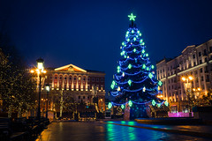 Christmas (potterandrew1) Tags: winter earlymorning christmas moscow cold christmastree modernlife today