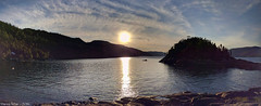 A Sunset in PanoraSmartphone (Badhabit07) Tags: huawey nexus 6p smartphone sunset water eau couch soleil mountains montagnes sky ciel nuages nuage cloud clouds hdr