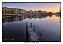Claisebrook Sunrise (JChipchase) Tags: claisebrook nikon d750 perth sunrise australia reflections water architecture jetty