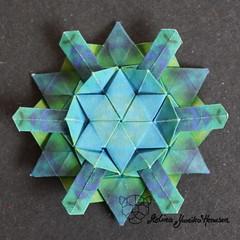 Iimori Flower E (Day 5) (Yureiko) Tags: yureiko tessellation papierfalten papier origami paperfolding paper