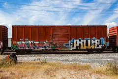 (o texano) Tags: houston texas graffiti trains freights bench benching soner popquiz pque sws wh d30 adikts a2m