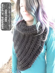 Huntress Cowl 02a (zreekee) Tags: sparkledoomdesigns saskatchewan handmade crochet canada rhiannon cowl hungergames