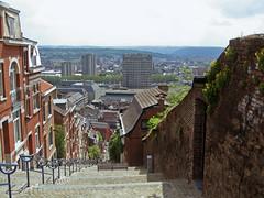 Montagne de Bueren (paletta_7) Tags: liege liegi belgium stairs landscape panorama