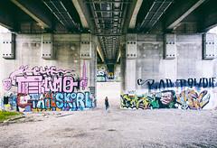 Urban Artwork (CoolMcFlash) Tags: bridge praterbrcke donauinsel vienna austria architecture graffiti art wall person woman canon eos 60d sigma 1020mm 35 symmetry symmetrie symmetrisch streetphotography street brcke wien sterreich urban city stadt architektur kunst wand frau fotografie photography