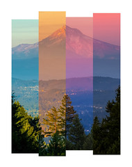Time Slice of Mt. Hood (jbrownell) Tags: centered color councilcrest dusk mounthood mountain peak portland silhouette sunset transition valley vista volcano willamette