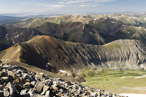 View north from Gray's Peak - many ridges