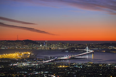 San Francisco Bay Bridge Sunset (Ellen Soohoo) Tags: san francisco bay bridge sunset east view 2016 canon