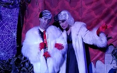 Sean Brown with his Muse, Cruella DeVil (Halloween in Oz) Tags: seanbrown cruella maleficent mickey shalloweenparty2016 halloween halloweencostume