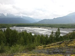 Kenai Fjords NP ~ Exit Glacier (karma (Karen)) Tags: kenaifjordsnp alaska exitglacier usparks rivers glacierwater trees mountians clouds htmt iphone topf25