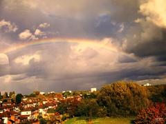 Rainbow over Birmingham (West Midlands, UK) (caren (Thanks for 1 Million+ views)) Tags: rainbow birmingham window fall autumn herbst regenbogen october westmidlands uk