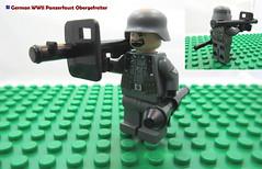 LEGO German WWII Panzerfaust Obergefreiter (dmikeyb) Tags: lego german wwii war minifig minifigure custom soldier weapon uniform luftwaffe recon sniper panzer panzerfaust general officer