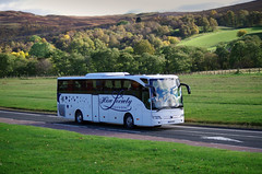 Hire Society Mercedes Tourismo BF16XPX on the A9 at Bruar, Perthshire 8/10/16 (andyflyer) Tags: hiresociety mercedes tourismo bf16xpx a9 bruar coach bus