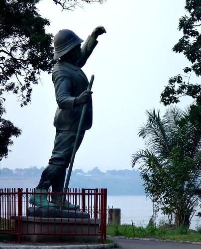 Henry Morton Stanley; estatua en el museo Nacional.   Kinshasa. RD Congo