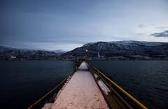 3 (Sergio Eschini) Tags: tromso viaggio travel norvegia normay snow december inverno winter crepuscolo natura landscape porto pier