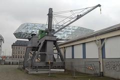 Hydraulische walkraan 111, Antwerpen (Erf-goed.be) Tags: walkraan havenkraan kraan eilandje antwerpen archeonet geotagged geo:lon=44056 geo:lat=512414