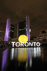 Toronto (scienceduck) Tags: deathofthesun scienceduck 2016 wideangle toronto tdot ontario canada nuitblanche art directorx nathanphillipsquare cityhall mrx