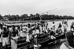 Triumph | Aranmula boat race 2016,Kerala. (vjisin) Tags: kerala india asia photostory nikon nikond3200 tradition nikonofficial documentary composition outdoor people indianheritage backwaters indianculture daylight iamnikon oarsman boatman aranmula men blackandwhite monochrome oarsmen celebrations triumph victory