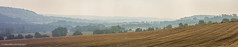 Autumn Morning in the Darent Valley (hillandsky) Tags: darent valley eynsford lullingstone kent fields sky hills haze hazy morning autumn