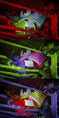 RGB Timbers Triptych VI (Notley) Tags: rural missouri notley notleyhawkins 10thavenue httpwwwnotleyhawkinscom missouriphotography notleyhawkinsphotography lightpainting bluelight greenlight blue green night nocturne   lichtmalerei pinturadeluz     abandoned sky longexposure november ruralphotography salinecountymissouri fall 2016 barn farm timbers triptych trio triad
