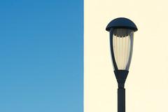 Street lamp and wall (Jan van der Wolf) Tags: map159208v composition compositie streetlamp lamp light wall muur minimalism minimalistic minimalisme minimal minimlistic straatlantaarn