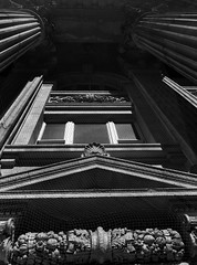 Massive (geowelch) Tags: toronto yongestreet architecture bank facade historicbuildings neoclassical stonework blackandwhite olympusomdem5 panasoniclumixvario1445m urbanfragments