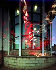 A Few November days (wheehamx) Tags: pinhole west kilbride library double exposure dusk