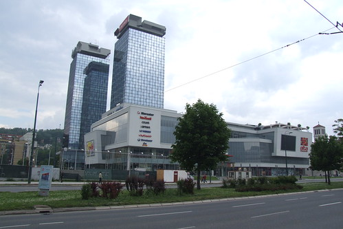 Shopping mall and UNITIC Twin Skyscrapers, 27.05.2012.