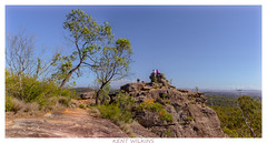 Contemplation (Kent Wilkins) Tags: ipswich queensland australia white rock panoramic landscape sky sandstone bush trees perspective cliff lookout exposed path relaxed