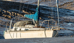 Stuck in the Mud (martingrant58) Tags: burnhamonsea canon70200f4l boat yacht mud sail eos7d