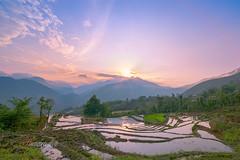 TOA 7459,61 Bản Khoang,Sapa,Lào cai 0515 (HUONGBEO PHOTO) Tags: bảnkhoang laocai sapa vietnam asian vietnamlandscape sunset clouds terraces mountains outdoor landscape