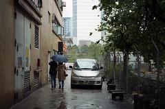 city in rain (Steve only) Tags: nikon 35ti nikkor 35mm 128 f28 3528 rf rangefinder fujifilm 100 100 film epson gtx970 v750 snaps peopleinthecity rain