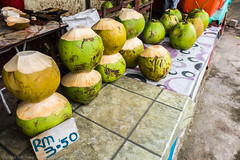 Fresh Coconit at Roadside Stall in Borneo (KST Photography) Tags: coconut coconuts produce ringgit borneo sweet kotakinabalu nutritious harvest stall drink food money pandan malaysia sale roadside sabah green fresh sell agriculture natural