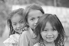 Laos : People #4 (foto_morgana) Tags: analogphotography analogefotografie asia blackwhitephotography caractre character childhood children doubleportrait editorialonly girls ilfordxp2 indochina jeugd jeune jeunesse jong juventud karakter laos nikoncoolscan nomodelrelease outdoor people persoonlijkheid photographienoiretblanc photographieanalogue portrait portret travelexperience vuescan young youth zwartwitfotografie