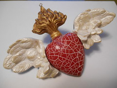 Heart of Love (LynzCraftz) Tags: polymerclay pendant resin art acrylicpaint oneofakind handmade