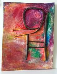 Guardando al Futuro (Daniela Bellofiore Artista) Tags: quadri arte interni riciclo sedia colorato pittura viola lilla fuxia