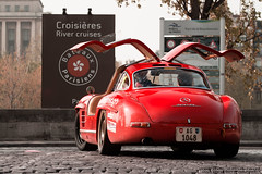 Gullwing [On Explore!] (U-Jack) Tags: red paris classic canon rouge eos mercedes usm guillaume 70200 f4 rallye 2012 300sl gullwing 500d ujack worldcars fougl
