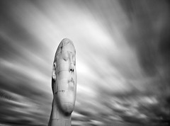 Head Space....... (Chrisconphoto) Tags: longexposure sculpture art clouds movement artist dream le weldingglass juameplensa