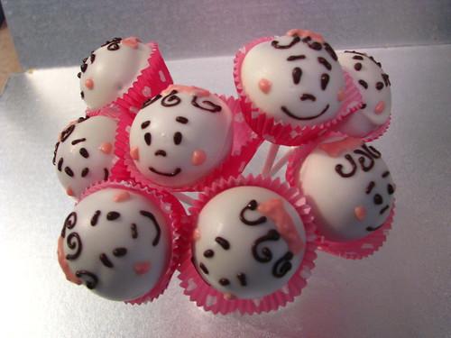 Little baby head cake pops! so cute!