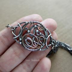 Bracelet in complement with Letter pendant (Taniri) Tags: jewellery bracelet sterlingsilver goldfill