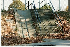 STAIRS TO PLAYGROUND AT MT WASHINGTON ELEMENTARY (roberthuffstutter) Tags: education innercity kcmo 1907 k7 independencemo mtwashingtonelementaryschool missourieducation gradeschools mtwashingtongradeschool