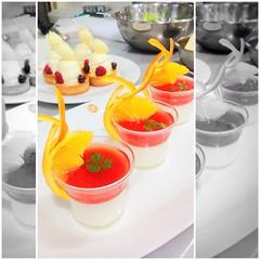 #dessert #jelly #mousse #orange มันจะดีกว่านี้ถ้าไม่ใส่ campari T^T อาจารย์จะบอกหลายคนครับ เรื่องการแต่งเค้ก บางคนชอบใส่ผลไม้แต่งหน้าเยอะๆ โดยเฉพาะเค้กสไตล์อเมริกัน ทำให้รสผลไม้ที่ไม่เข้าไปตีกันมั่ว (แต่ถ้าจะจะใส่เยอะจะใช้แต่งหน้าพวกทาร์ต โดยเน้นผลไม้เชิง