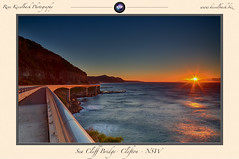 Sea Cliff Bridge sunrise (rene.kisselbach.photography) Tags: ocean bridge seascape sunrise canon reflections landscape nsw newsouthwales clifton hdr seacliffbridge hdrphotography canon5dmkiii renekisselbachphotography