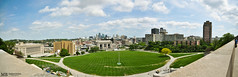 Kansas City, Missouri (Matthew Britton) Tags: city blue sky panorama building green grass station matt nikon cityscape angle matthew pano union wide sigma images mo missouri kansas kc 1020 mb britton d300s