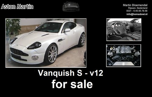 Aston Martin Vanquish S - White for sale in Netherlands check Facebook - hemadowi