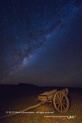 Night Sky above Varschfontein, Tankwa Karoo National Park, South Africa (Ulrich Mnstermann) Tags: africa longexposure travel sky holiday nature night stars landscape southafrica vakantie nacht natur transport natuur himmel location transportation afrika landschaft ferien hemel reise landschap reizen horsecarriage namaqualand northerncape tankwakaroonationalpark varschfontein 1305southafrica