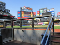 Citi Field, 05/16/13: view from the visitors' dugout (IMG_0894) (Gary Dunaier) Tags: baseball stadiums stadia ballparks mets newyorkmets flushing queens newyorkcity queenscounty queensboro queensborough citifield