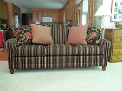 Smith Brothers 374 Sofa (Brian's Furniture) Tags: brothers seat 4 stripe smith pillows fabric foam berne ultra firm extra accent cushions 374 80l qualex 214218 284918