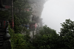 (uht_?) Tags: china trip travel red mountain tree green nature rock temple sacred shan whudang