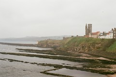Abbey (furtivefoxes) Tags: greatbritain film abbey 35mm scotland ruins fife olympus saintandrews caslte olympusomg olympusom20