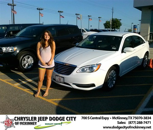 Dodge City of McKinney would like to say Congratulations to Debra Sancer on the 2012 Chrysler 200